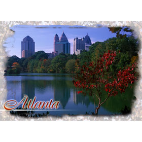 4X6 Postcard GA Atlanta Autumn Reflection – Pack of 50 Postcards