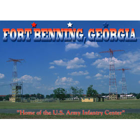 4X6 Postcard GA Ft. Benning Freefall Towers – Pack of 50 Postcard