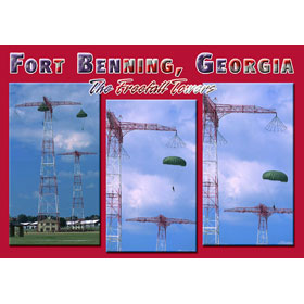 4X6 Postcard GA Ft. Benning Freefall Towers – Pack of 50 Postcar