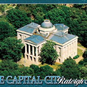4×6 Glitter Postcard – Capitol Bldg Aerial – Raleigh – Pack of 5